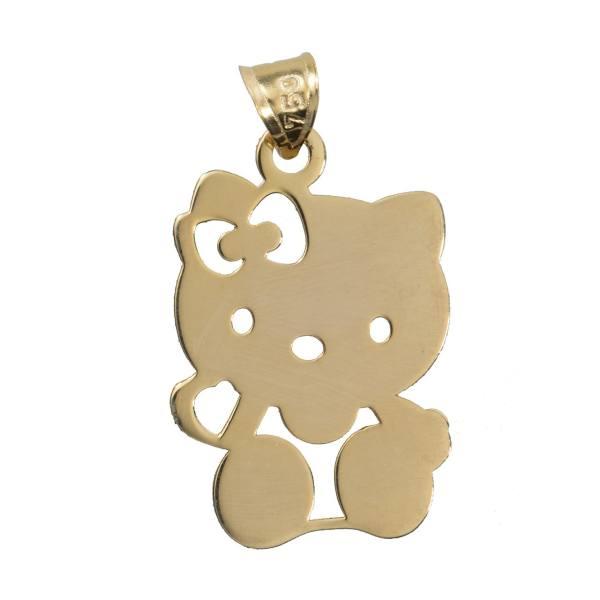 آویز گردنبند طلا 18 عیار رزا