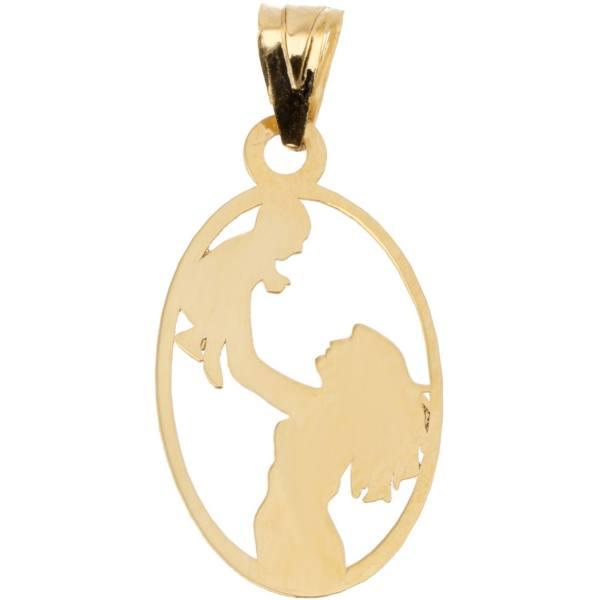 آویز گردنبند طلا 18 عیار ماهک