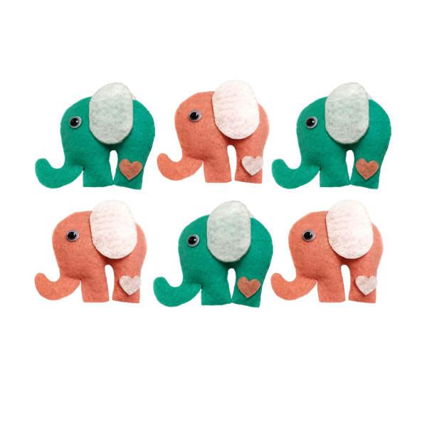 گیفت نوزاد طرح فیل بسته 6 عددی