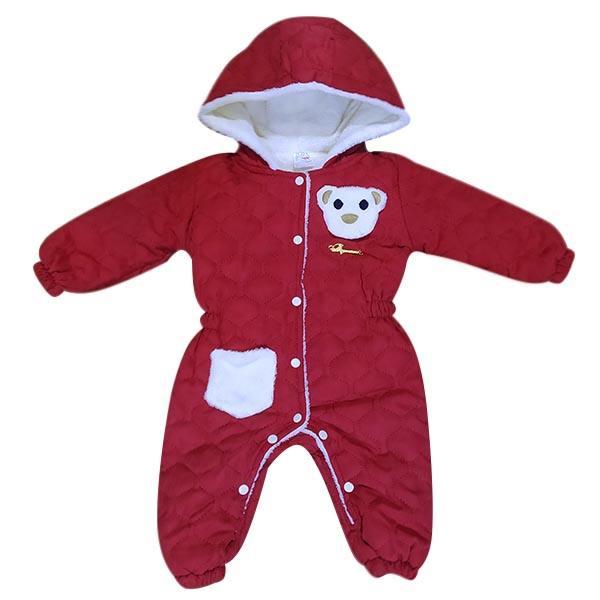 سرهمی نوزادی زمستانی مدل خرسی